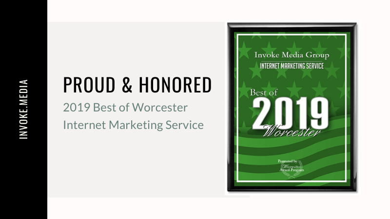 Invoke Media Group Awarded Best in Worcester Award